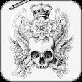 App Draw Tatto Skulls APK for Kindle