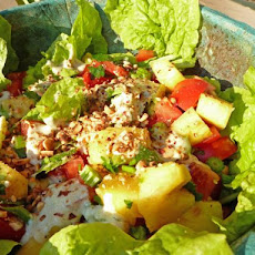 Tropical Salad With Pineapple and Tomatoes