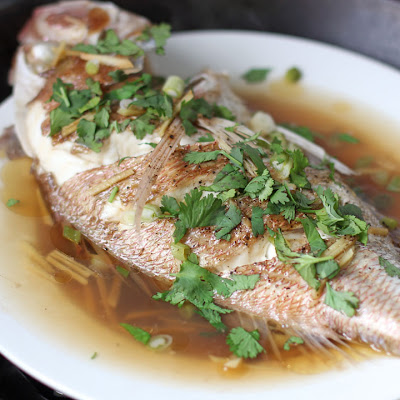 Malaysian Style Steamed Fish