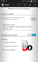 Screenshot of The Reader Text-to-Speech App
