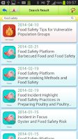 Screenshot of Food Safety