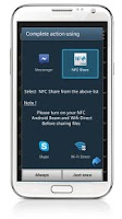 Screenshot of NFC Share