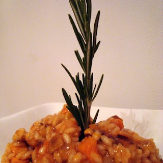 Sweet Potato Risotto with Spicy Maple Glazed Walnuts