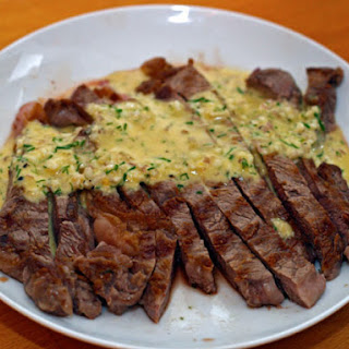Grilled Steak with Sauce Gribiche