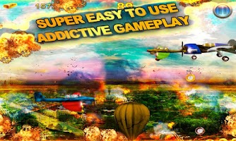 Screenshot of AIRPLANE MADNESS War Free Game