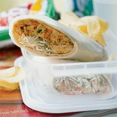 Chicken Saté Wraps