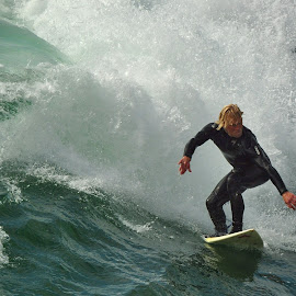 Keep your eyes on the wave by Dennis McClintock - Sports & Fitness Surfing ( ocean sports, surfing, water sports, sports )