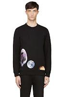 Raf Simons_ Sterling Ruby Black Shark And Planet Print Sweatshirt