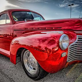 Red Sedan by Ron Meyers - Transportation Automobiles ( 6-17-2014 tulsa auto club )