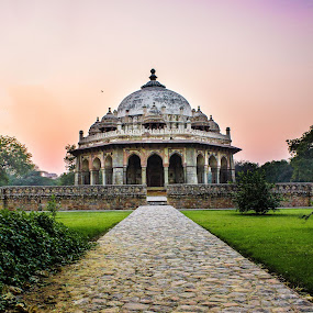 Isa Khan Tomb by Ashish Jain - Buildings & Architecture Statues & Monuments ( tomb, ashish, oddlens, jain, monument, isa khan, evening, humayun, delhi )