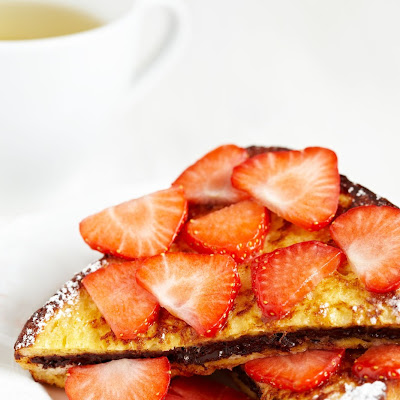 Nutella-Stuffed Strawberry French Toast