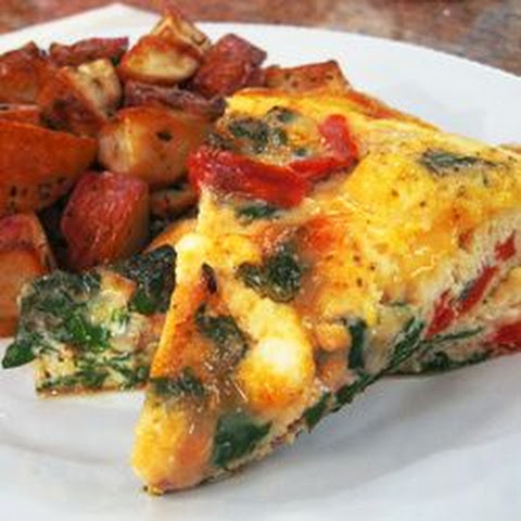 Red Pepper, Chard and Feta Frittata