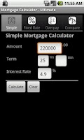 Screenshot of Mortgage Calculator Ultimate