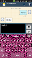 Screenshot of Pink Cheetah Keyboard