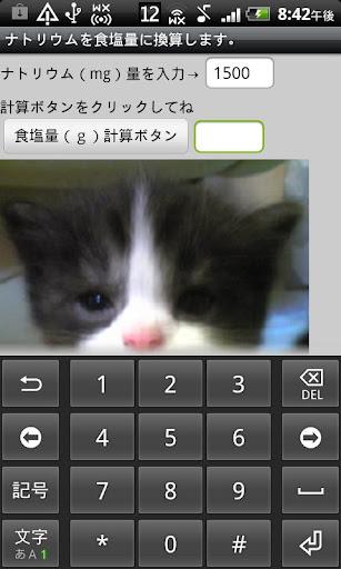 ネコ看護学生の塩分計算機