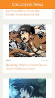 Screenshot of Crunchyroll News