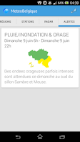 Screenshot of Météo en Belgique