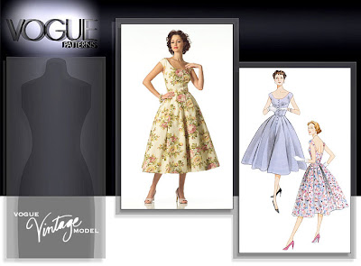 Vogue 2960, a reproduction of a vintage pattern from 1954. Click for Vogue listing.