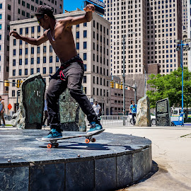 Balanced by Terry McKay II - People Street & Candids ( skateboarding, teenager, detroit, skateboard, daylight,  )