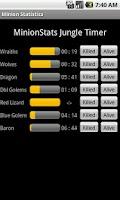 Screenshot of League of Legends Minion Stats