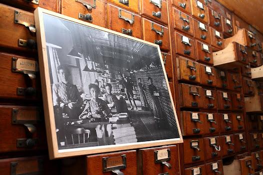 Het Repertorium zoals het vandaag bewaard wordt in het Mundaneum te Bergen in België