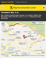 Screenshot of Páginas Amarillas Venezuela