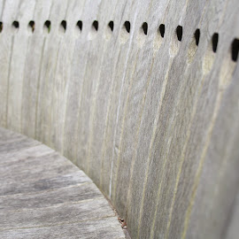 Park bench by Ian Clothier - Abstract Patterns