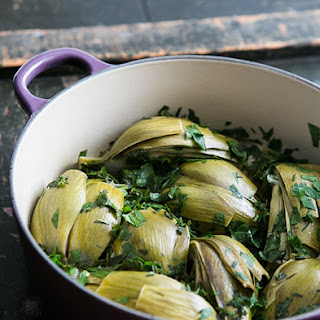 Braised Marinated Artichokes