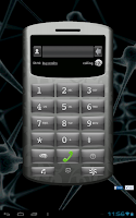 Screenshot of VOIP tablet: phone call & SMS
