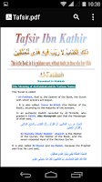 Screenshot of Tafsir Ibn Kathir
