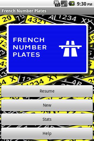 French Number Plates