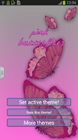 Screenshot of Keyboard Pink Butterflies