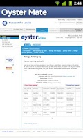 Screenshot of Oyster Mate