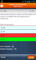 Screenshot of Aptitude Tests for new hires