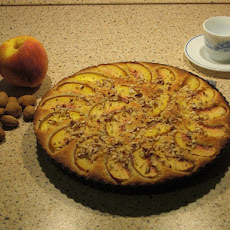 Peach and Almond Tart (Gluten and Lactose-free, Natch)