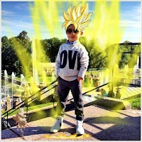 Screenshot of Super Saiyan Hair Camera
