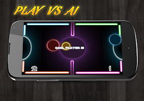 Screenshot of Glow Air Hockey Multiplayer