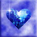 Blue Sparkle Hearts icon