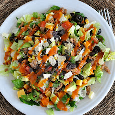 Chopped Taco Salad with Homemade Catalina Dressing