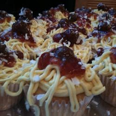 Spaghetti and Meatballs Cupcakes