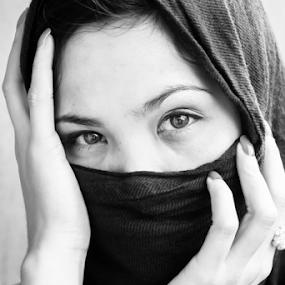 Emotions by Cristopher Selga - People Portraits of Women ( sony, blacknwhite, nex7, beautiful, eyes )