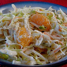 Ginger Cole Slaw With Mandarin Oranges