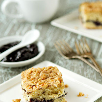 Simple Lemon-Blueberry Coffee Cake