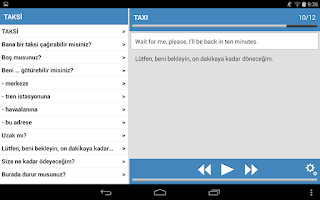 Screenshot of Seyahat konuşma kılavuzu