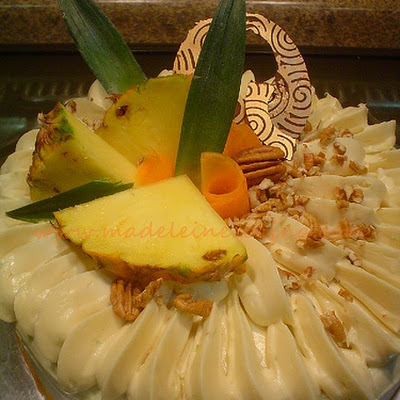 Carrot and Pineapple Cake with Lemon Cream Cheese Frosting