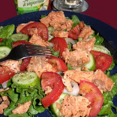 Salmon and Plum Tomato Salad