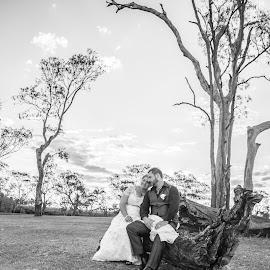 by Kathryn Cherry - Wedding Bride & Groom