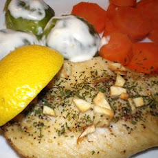 Salmon or Tuna Steak With Garlic and Parsley