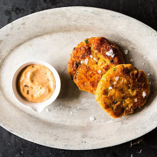 Sweet Potato Salmon Cakes with Chipotle Aioli