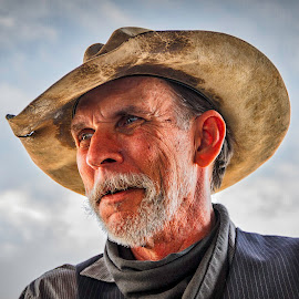 Texas Cowboy by Linda Knox - People Portraits of Men ( texas photo festival, cowboy,  )
